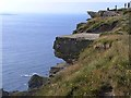 R0492 : Overhanging ledges on the Cliffs of Moher by Oliver Dixon