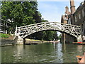 TL4458 : The Mathematical Bridge over the River Cam by M J Richardson