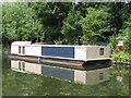 TQ2282 : Bauhaus - solar powered canal barge by David Hawgood