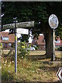TM2983 : Roadsign & St.Cross South Elmham Village sign by Adrian Cable