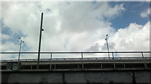 TQ3783 : Looking up at Bow Flyover from the Lea Navigation by Robert Lamb