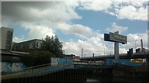 TQ3783 : View of Bow Flyover from the Lea Navigation #3 by Robert Lamb