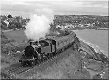 J4791 : Steam train leaving Whitehead by The Carlisle Kid