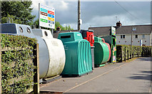 J1953 : Recycling bins, Dromore by Albert Bridge