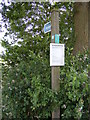 TM3284 : Footpath sign & Open Access Map by Adrian Cable