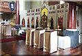 TQ2779 : Assumption & All Saints, Ennismore Gardens - Iconostasis by John Salmon