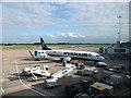 SJ8284 : Servicing a Ryanair flight by Bill Harrison