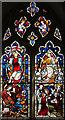 TL8169 : St Catherine, Flempton - Stained glass window by John Salmon