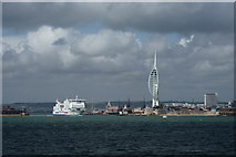 SZ6299 : Approaching Portsmouth Harbour by Peter Trimming