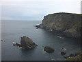 NC3871 : Sea stack at Poll a' Gheodha Bhain, Faraid Head by Karl and Ali