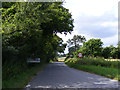 TM3083 : Entering St.Cross South Elmham on Fox Hill by Adrian Cable