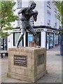 SP2864 : Randolph Turpin Statue, Warwick Market Place by David Dixon