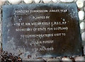 NH9961 : Plaque to commemorate a visit to Culbin by William Ross by Karl and Ali