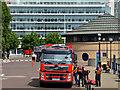 J3474 : Fire appliance, Belfast (2013) by Albert Bridge
