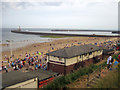 NZ4059 : The rear of The Smugglers pub and Roker Pier by Graham Robson