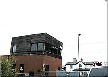 SK7964 : Carlton-on-Trent, signal box by Alex McGregor