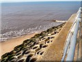 SD3031 : Sea Defences at Squires Gate by Gerald England