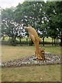 NZ4061 : Wooden dolphin sculpture, Cornthwaite Park, Whitburn by Graham Robson