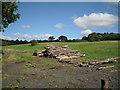 SP0867 : Log pile, bottom of old Gorcott Hill by Robin Stott
