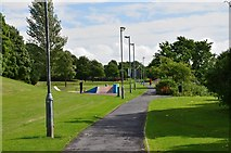 NT5015 : Footpath from Teviotdale Leisure Centre, Hawick by Jim Barton