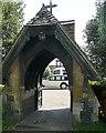 SU7886 : Hambleden church lych gate by Graham Horn