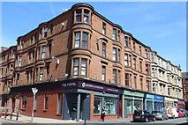 NS5565 : Corner of Howat Street & Govan Road, Govan by Leslie Barrie