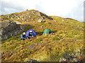 SH7459 : Wild camp on Pen y Geuallt by John Horner