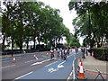 TQ2977 : RideLondon route in Grosvenor Road, Pimlico by PAUL FARMER
