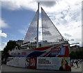 TQ2980 : Clipper Race boat in Trafalgar Square by PAUL FARMER