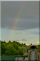 SK5032 : Rainbow behind the barge loading point by David Lally
