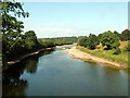 NY3972 : The River Esk from Netherby footbridge by Rose and Trev Clough