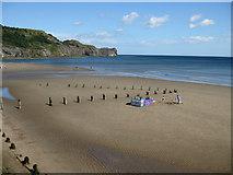 NZ8612 : Plenty of space on Sandsend beach by Pauline E