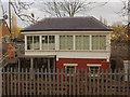 TQ2285 : Dudding Hill signal box in Gladstone Park by David Howard