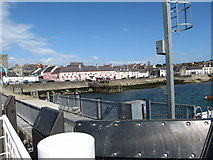 J5950 : The pink-painted Portaferry Hotel from the upper deck of Portaferry II by Eric Jones