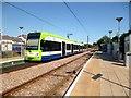 TQ2867 : Tram at Mitcham Junction by Des Blenkinsopp