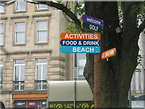 NT2574 : Sign post in St Andrew Square by M J Richardson