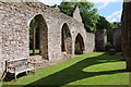 SO5028 : Ruins of Llanwarne church by Philip Halling