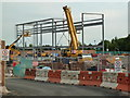 SO8754 : Worcestershire Royal Hospital - radiotherapy unit - steelwork by Chris Allen