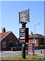 TM3390 : The Duke of York Public House sign by Adrian Cable