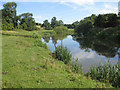 SE7668 : River Derwent, upstream view by Pauline E