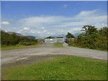 SH5738 : Glaslyn sluice gates from the Cob Crwn path by David Medcalf