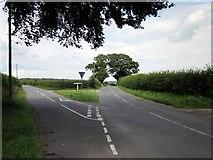 SJ5050 : Lane Junction at Ashtons-cross by Jeff Buck