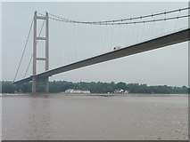 TA0224 : The Humber Bridge from the Humber by Christine Johnstone