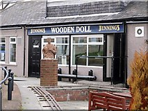 NZ3668 : Wooden Doll, Hudson Street, North Shields by Andrew Curtis