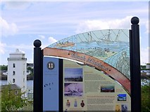 NZ3668 : North Shields Heritage Trail, Hudson Street by Andrew Curtis