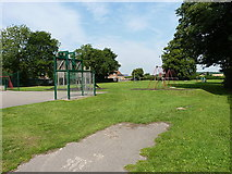 SK5276 : Children's play area on Bakestone Moor, Whitwell by Richard Law