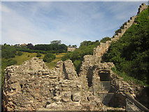 NT9953 : The White Wall, Berwick Castle by Graham Robson