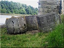 NT9953 : Anti tank defences at the foot of the Royal Border Bridge by Graham Robson