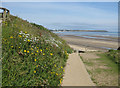 TA1377 : Beach access path at Hunmanby Gap by Pauline E