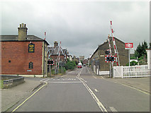 TM3863 : Saxmundham Level Crossing on Station Approach by Stuart Logan